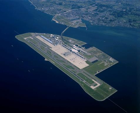 Аэропорт на искусственном острове, Япония. строительный портал
