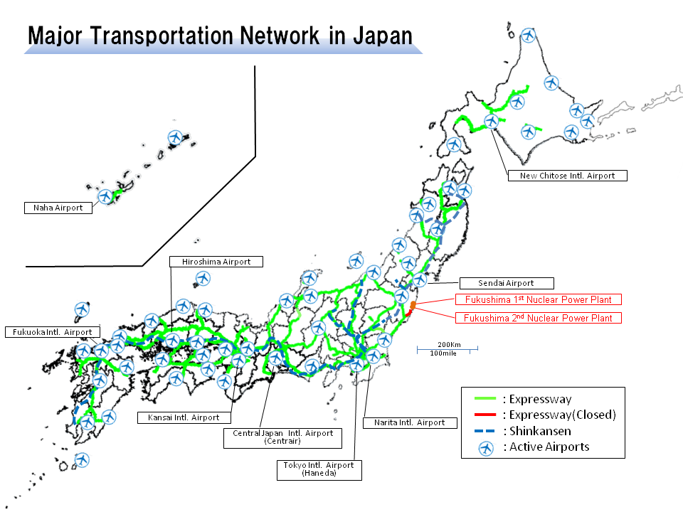 Major Transportation Network in Japan