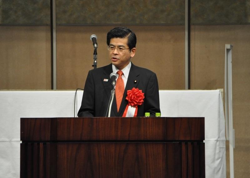 【平成27年11月24日】 石井大臣が「平成27年度治水事業促進全国大会」に出席