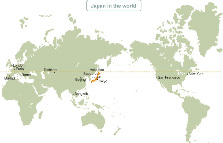 Hokkaido World Map.Geography Of Hokkaido