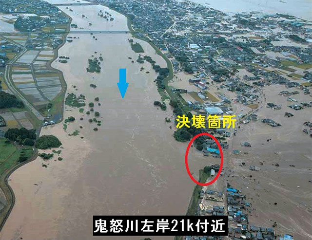 鬼怒川 氾濫