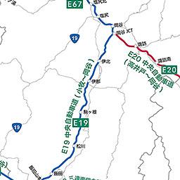 高速道路ナンバリング路線図 中部地方
