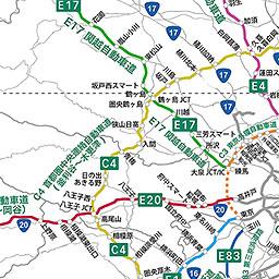 高速道路ナンバリング路線図 関東地方